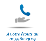 A votre écoute au 01 55 60 29 29